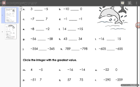 Comparing Integers Worksheet Answers   YouTube YouTube