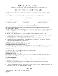 Production Line Worker Sample Resume Mitocadorcoreano Com