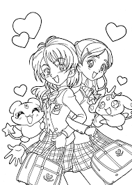 Tuyển tập 50 bức tranh tô màu Anime tuyệt đẹp dành cho bé