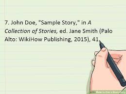 How To Cite A Short Story In Literature Book