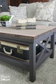 Delightful Barn Wood Top Coffee Table | Blessu0027er House   Gorgeous Way To Cover Up