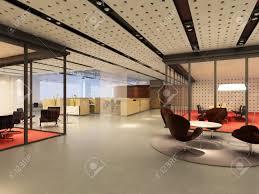 modern office interior. Modern Office Interior 3d Rendering Stock Photo - 9821269