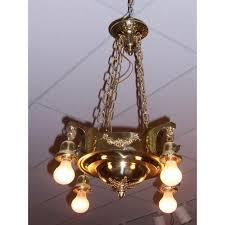 brass light fixture
