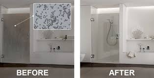 how to clean hard water stains in shower image cabis and