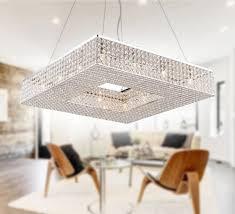 modern crystal chandelier pendant light fixture square lightingmust
