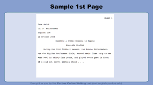 Mla 7 Th Edition Formatting And Style Guide Format General