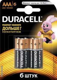 <b>Батарейка</b> щелочная <b>Duracell</b> Basic, тип <b>ААА</b>, 6 шт — купить в ...
