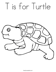 Small Picture T is for Turtle Coloring Page Twisty Noodle