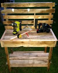 Potting Table Pallet Potting Bench Step By Step