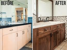 Update Your Bathroom Vanity With New Cabinet Doors The Handymans
