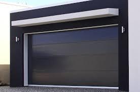 modern garage doorBlack insulated panel contemporary garage doors  Home Interiors
