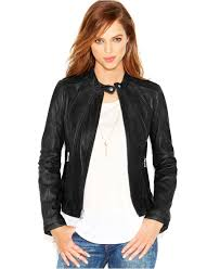 guess perforated faux leather moto jacket cairoamani com