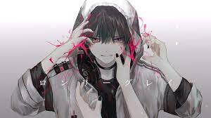 Wallpaper Headphones Anime Boy Cool