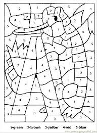 Small Picture Alligator Color By Numbers Coloring Page Free Numbers Coloring