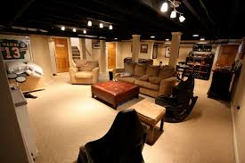 lighting for basement ceiling. exposed ceiling painted black with nice lights basement idea lighting for o