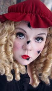 still more looks d here s a broken doll tutorial first use light white base for your face if you want also put on your