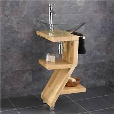 free standing sink. Image Is Loading Square-Glass-Basin-on-Solid-Wood-Freestanding-Sink- Free Standing Sink