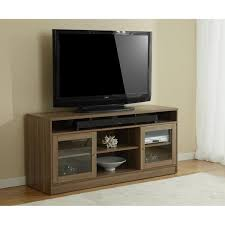 tv stands with soundbar space. Jesper Office Walnut TV Stand With Soundbar Shelf In Tv Stands Space Overstockcom