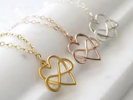 infinity heart eternal love best friend necklaces best friendship necklaces