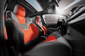 2018 ford fiesta st interior in molten orange recaro seats