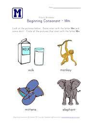 It's fun to learn the alphabet! Beginning Consonants Letter M Worksheet All Kids Network