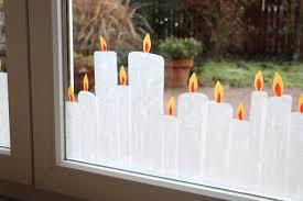 Fensterdeko Weihnachten Kerzen Transparentpapier Lavendelblog