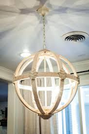 diy wood chandelier farmhouse crystal wooden orb plans bead