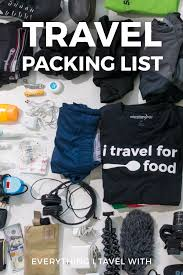 list for traveling my ultimate travel packing list everything i carry