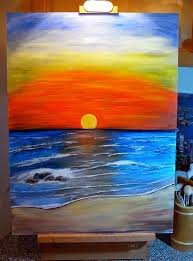 easy acrylic painting on canvas wolves sunset acrylic painting by dx traditional art paintings landscapes