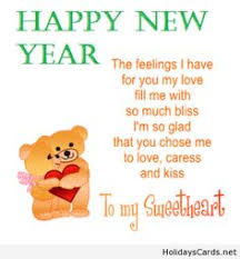 Happy new year card for my sweetheart