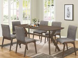 mcbride warm brown rectangular dining room set from coaster coleman furniture