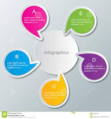 011 Infographic Template Free Download Set Multi Colored Speech