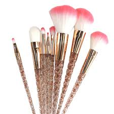 details about unicorn makeup brush powder cosmetic eye shadow highlighter beauty set kit tool