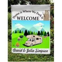 camping garden flag. Beautiful Camping This Is A Personalized Welcome Garden Flag That Would Be Perfect For  Displaying At Your Campsite In Camping P