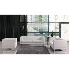 Tufted Living Room Set Wade Logan Alsatia Modern Tufted Eco Leather Living Room Set