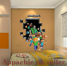 Minecraft Bedroom Wallpaper Mincraft Kids Bedroom Wall Sticker 5070 Steve 3d Wall Sticker