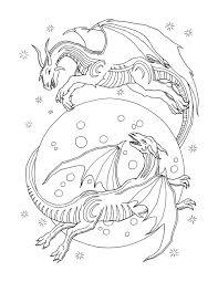 Adult Coloring Book Dragon World Bluestarcoloring Com