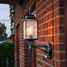 konstsmide milano outdoor lantern wall light with pir sensor lighting direct
