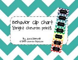 Behavior Clip Chart Bright Chevron Print