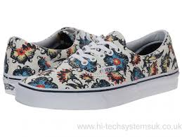 vans golf shoes. exclusively ours vans white sneakers era™ - floral classic blues \u0026 athletic skate golf shoes