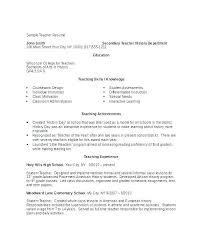 Sample Teacher Resume Format Resume Format For Teaching Fresher ...