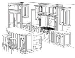 interior design sketches kitchen. Kitchen Drawing Luxury With Image Of Painting New At Design Interior Sketches H