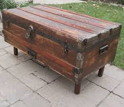traditional steamer trunk coffee table