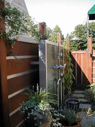 exterior shower fixtures. outdoor shower fixtures patio contemporary with container plant faucet groundcover exterior