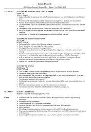 Electrical Design Analysis Example Electrical Design Resume Samples Velvet Jobs