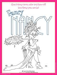 Small Picture Fancy Nancy Coloring Pages sportekeventscom