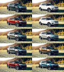 2017 Ford Explorer Color Chart 2016 Ford Explorer Colors