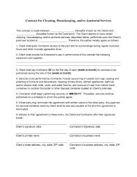 Cleaning Service Contract Cleaning Contract Agreement Cleaning Contracts Free Printable 10