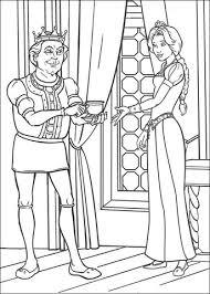 Koning Geeft Prinses Fiona Een Kopje Thee Kleurplaat Gratis