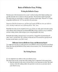 Reflective Essay Format Examples Essay Writing With Examples Dew Drops
